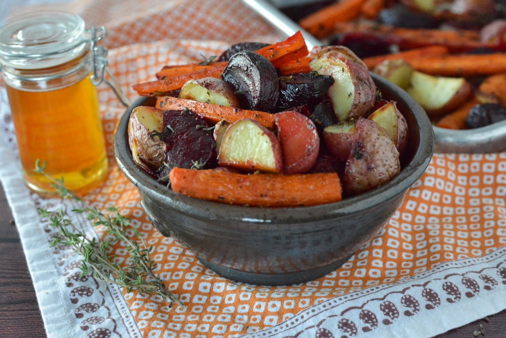 Roasted Vegetables with Honey & Herb Glaze